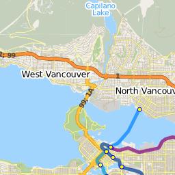 Route 250: Horseshoe Bay / Dundarave / Vancouver — TransitDB